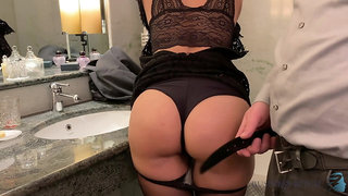 slut fucked after business dinner - business-bitch