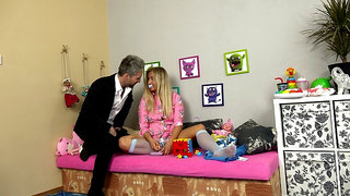 Hot blonde dressed as   gets cunt fucked