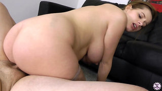 Horny Pregnant Babe Loves To Milk My Cock