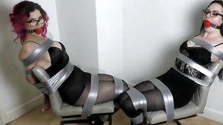 Ultra-Hard Bind & Gag Up Challenge!