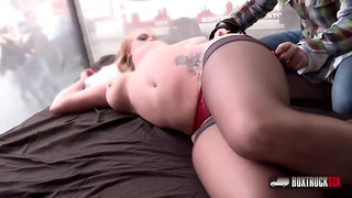 Lady Pinkdot is getting fucked and creampied in the middle of the day, by the window