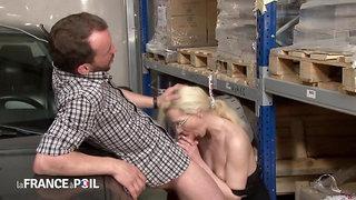 Desperate Blond Hair Babe Bitch Call Cab Drive Hard Sex