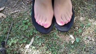 soft black flats & sweaty nylons