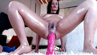 Gaping and gyno toying her pleasant aperture