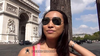 Sharon Lee - XXXX - DP in Paris with 3 men