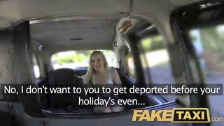 FakeTaxi English dick in the ass for hot blonde Canadian passenger