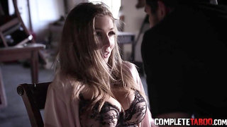Busty babe gets tied and fucked by intruders