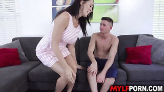 Foot ball player homebase with hot MILF Reagan Foxx