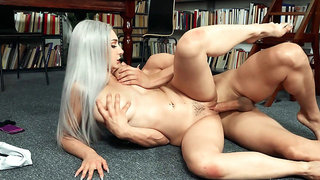 All natural Dylann Vox gets pussy banged on the floor
