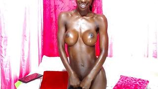 Super star ebony babe Tracy Ryan Masturbation webcam
