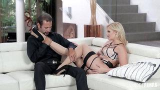 Big Tit Glamour Blonde Enjoy Sucking And Taking Hard Cock