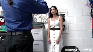 Security guard can't resist the temptation to fuck shoplifting milf Artemisia Love